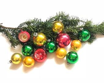 assorted set of vintage glass christmas ornaments glass vintage christmas balls ornaments set of vintage christmas tree ornaments