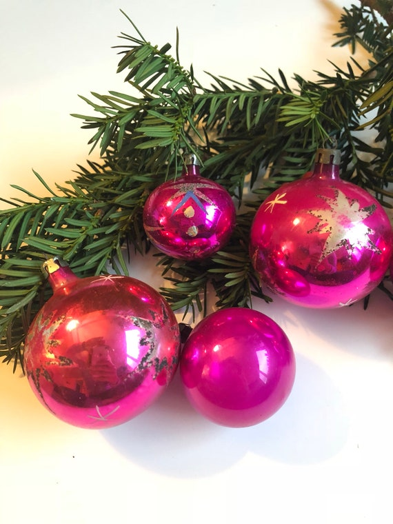 image 0 - Vintage Glass Christmas Ornaments