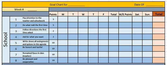Excel Children Reward System Easy To Customize Kids Point Etsy