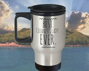 best cleaning lady ever travel mug maid gift 14 oz stainless steel gift for housekeeper cleaning lady gift maid mug christmas gift under 25