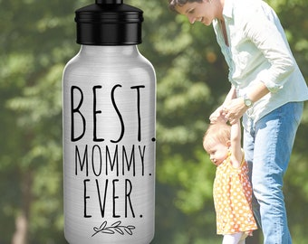 Best Mommy Ever 20 oz Sturdy Water Bottle | Gift to Mom from Child | Mothers Day Gift | Gift From Kid to Mom | Under 20 | Free Shipping