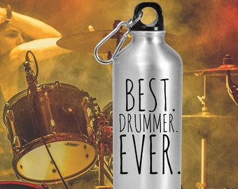 BEST DRUMMER EVER Personalized Water Bottle Drummer Gifts for Men Gift for Drummer Customized Water Bottle Musician Gifts Drummer Gifts