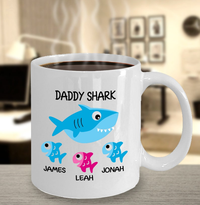 Oh yes daddy shark mug Cute Mug Coffee Mug 11oz Funny mug