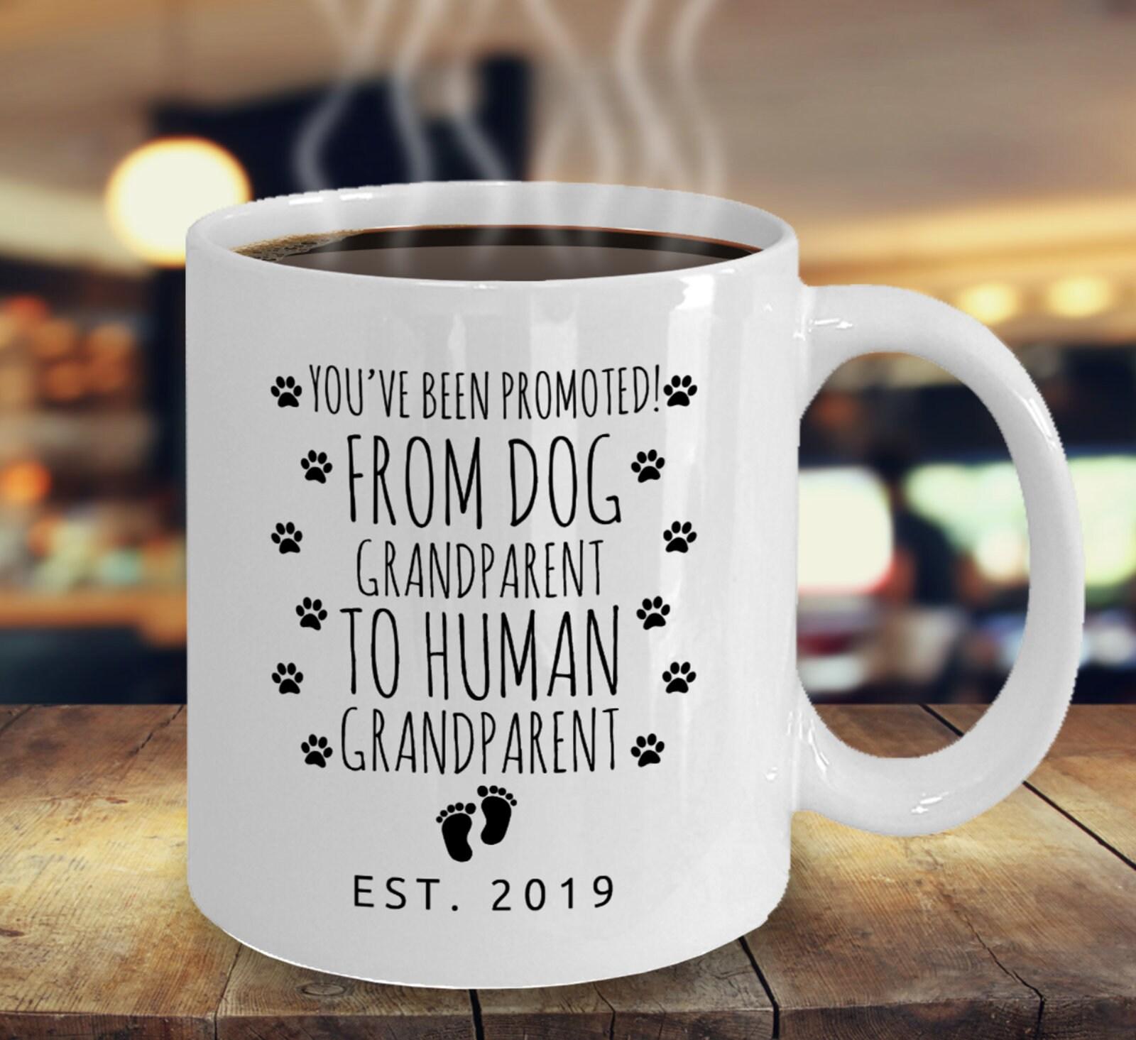 Dog Grandparent To Human Grandparent Mug Pregnancy