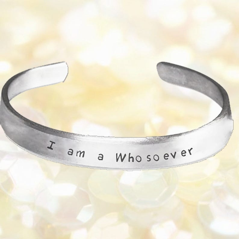 I/'m a Whosoever Stamped Bracelet Religious Jewelry Whosoever Aluminum Bracelet Personalized FREE One Size Fits All Cuff Bracelet