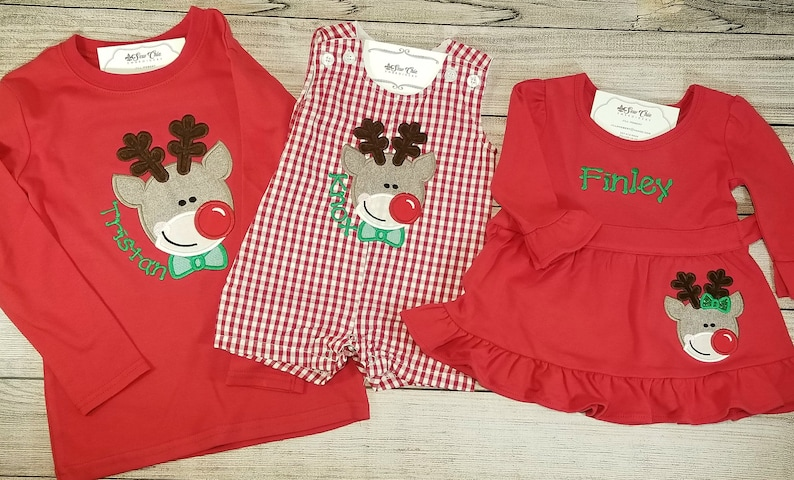 600313dbc Matching Sibling Christmas Outfits Baby Girl Christmas | Etsy