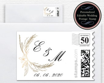 Wedding postage stamps | Etsy