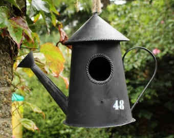 Traditional Watering Can Bird House / Bird Feeder