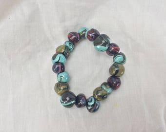 One off multi colour bracelet