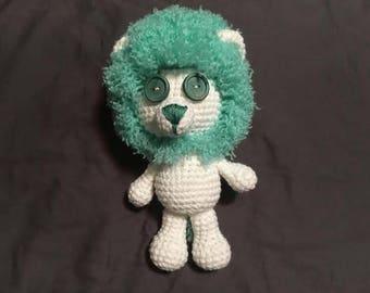 Crochet Lion - Green
