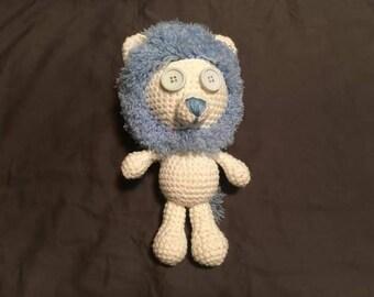 Crochet Lion - blue