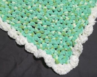 Crochet Baby Blanket - green