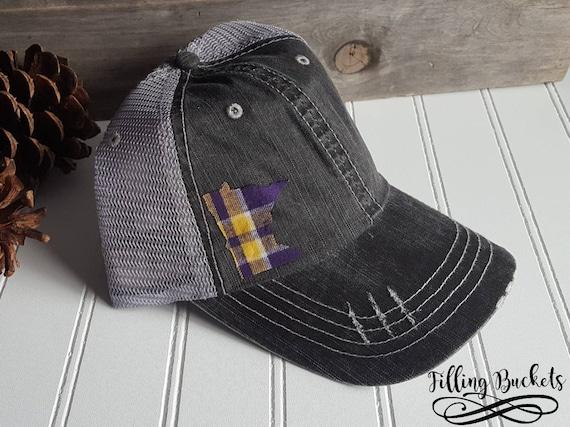 Minnesota Vikings Distressed Trucker Hat MN State Hat  0fb18c0d206