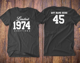 1974 Birthday Shirt 45th