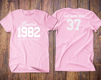 1982 Limited Edition 37th Birthday Party Shirt 37 Years Old Year