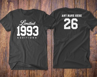 number 26 birthday t shirts