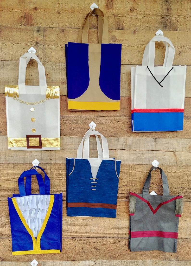 Halloween Candy Bag Aladin Costume Bag Disney Book Bag Party Favors Aladdin Tote Bag Aladdin and Jasmine birthday Prince Costume