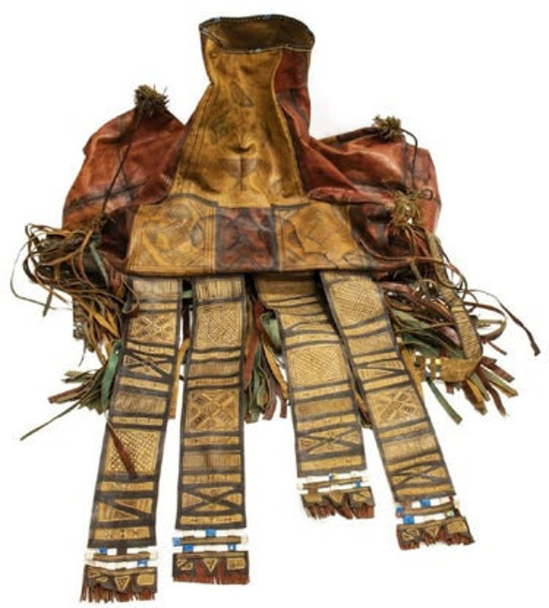 TUAREG CAMEL BAG circa 1950 large antique African Tuareg image 0