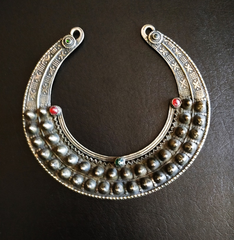 SPIKED KUCHI TORC torque with spikes jewel settings etching image 0