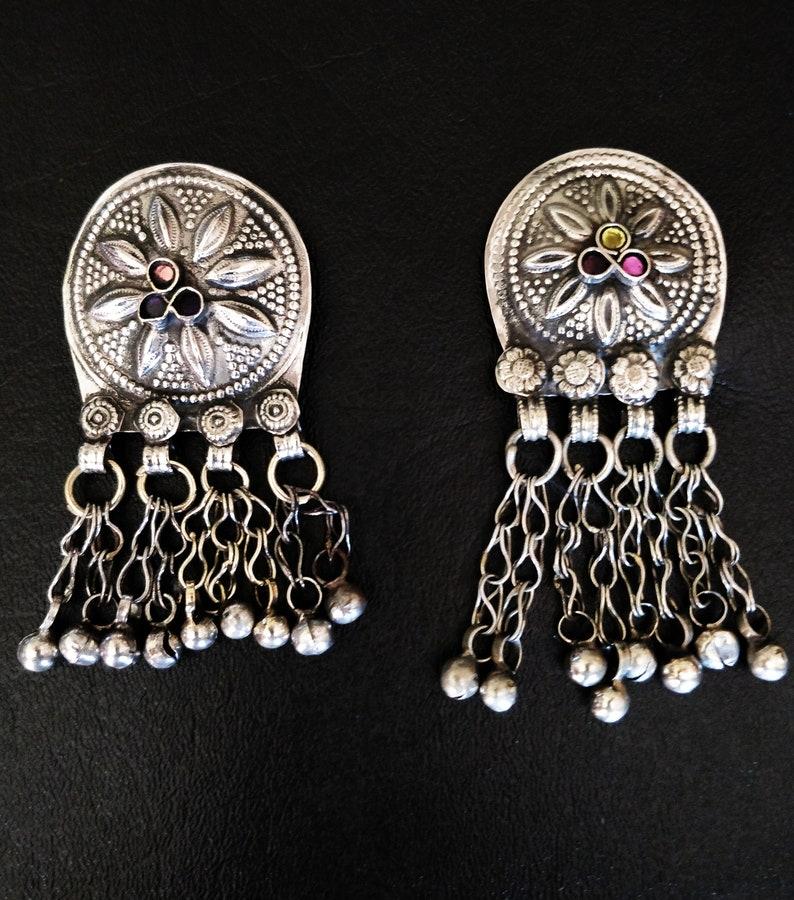 2 KUCHI WAZIRI PENDANTS 2 Vintage button pendants bell image 0