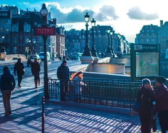 Catching the Metro in Paris - Travel Photography - Fine Art Photo - Paris France Europe