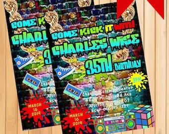 Hiphop Birthday Party Invitation