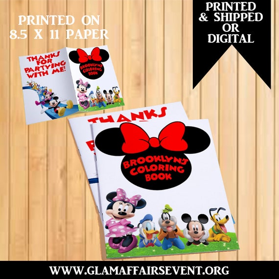 - Minnie Mouse Coloring Book Minnie Mouse Custom Coloring Book Etsy