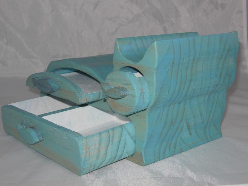 Jewelry Home Decor Keepsake Bandsaw Wooden Box Cat