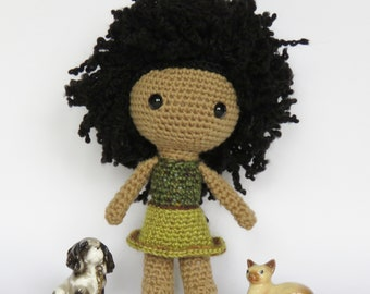 READY TO SHIP    Aziza    Handmade African American Doll