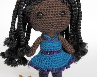 MADE TO ORDER    Jada    Handmade African American Amigurumi Doll
