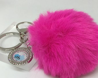 Jack and Jill Pom Pom Key Chain/Purse Charm/Planner Accessories/ Key chain/ Handbag charm/ Backpack charm
