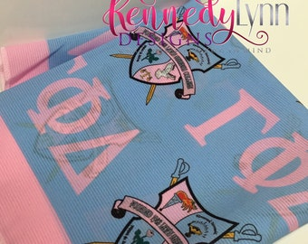 Gamma Phi Delta Sorority, Inc. scarf/ Unique/ Sorority/ Designer scarf