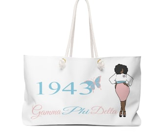 Gamma Phi Delta Sorority, Inc. Weekender Bag/ Travel Bag/ Girls Trip