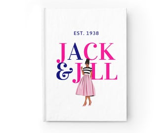 Jack and Jill of America, Inc. Petite Hard  Cover Journal - Ruled Line/ Meeting Notes/ Prayer Journal