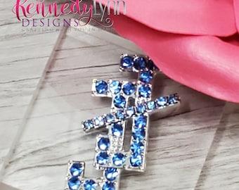 Jack and Jill of America, Inc./ Crystal brooch/ Lapel Pin/ Bling pin/