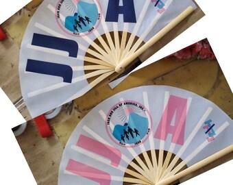 Large JJOA hand fan with logo/ summer fan/ cooling fan/ Chinese fan