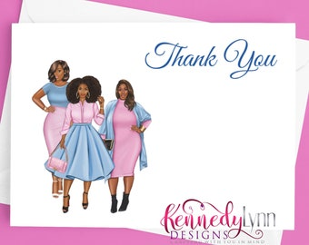 Custom 4x6 (10-Pack) Blank Note Cards With Envelopes/ Thank You/ Jack and Jill of America, Inc./Gamma Phi Delta