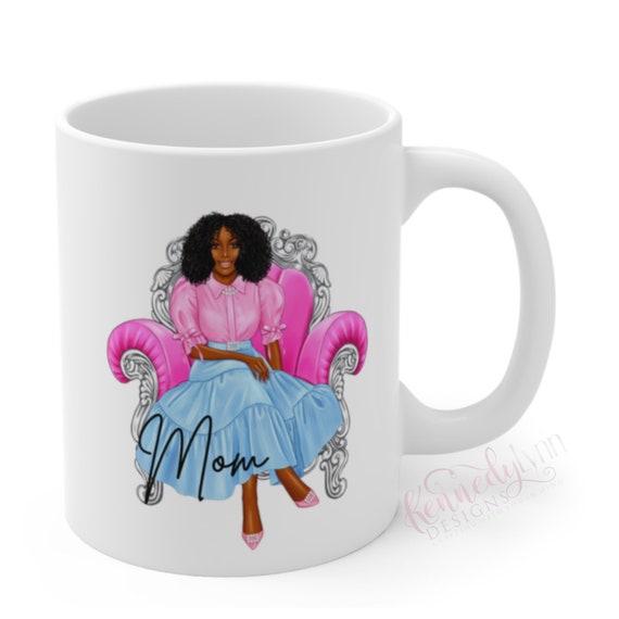 Perfect Mom Coffee Mug/ Natural Hair/ Coffee Lovers/ Jack and Jill Mug/Sorority