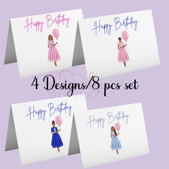Custom 3X5 (8-Pack) Folded Birthday Greeting Cards  with Envelopes/ Jack and Jill of America, Inc.