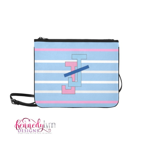 Jack and Jill slim cross body purse with JJ Logo