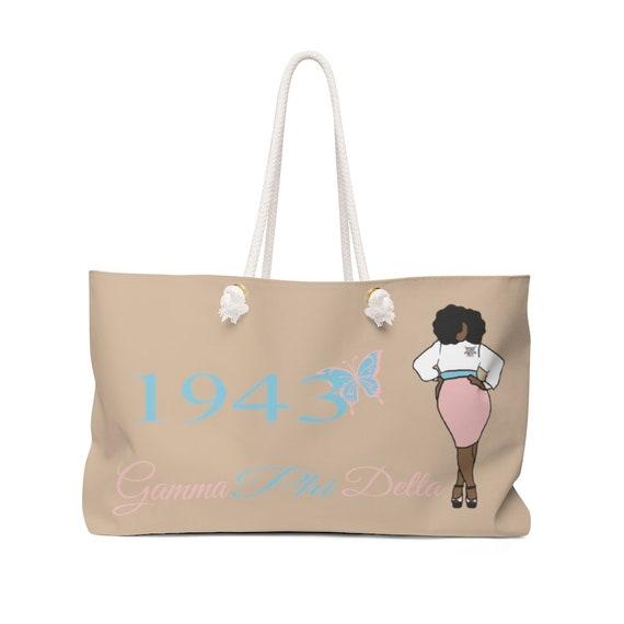 Gamma Phi Delta Sorority, Inc./  Weekender Bag/ Travel Bag/ Girls Trip/ Canvas tote