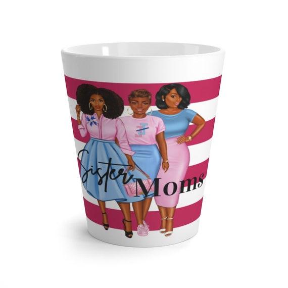 Jack and Jill Sister Moms Latte Mug/ Striped Latte Mug