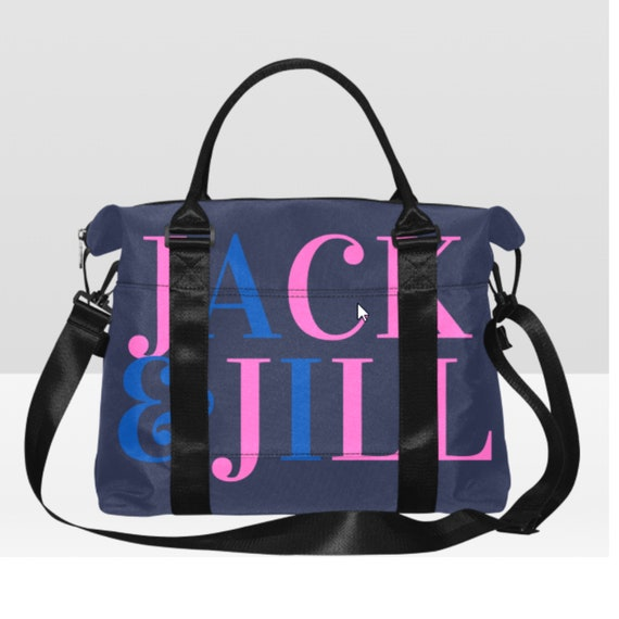 Jack and Jill Travel Bag/ Travel tote/ Luggage/ Overnight Bag/ Lap top Bag/ Carryall