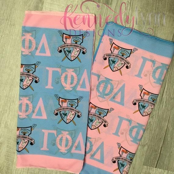 Gamma Phi Delta Sorority, Inc. scarf/ Unique/ Sorority/ Designer scarf