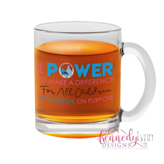Jack and Jill of America, Inc./ Clear Glass Mug/  10 Fluid Oz
