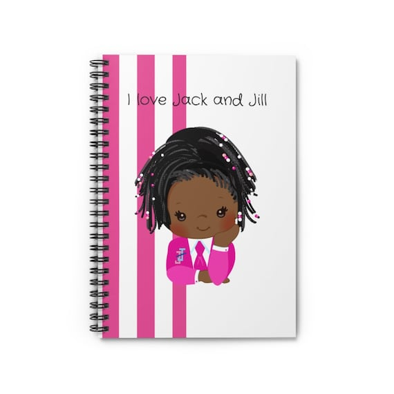 Jack and Jill Spiral Notebook - Ruled Line/African American/ Black Girl Magic