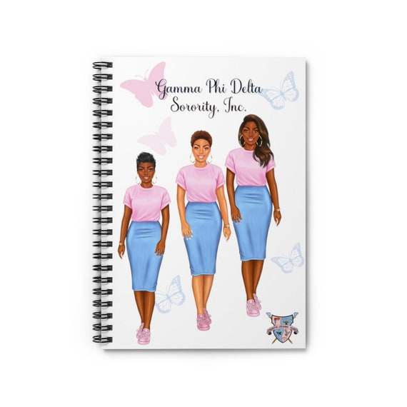 Gamma Phi Delta Sorority, Inc. 8x6 Spiral Notebook - Ruled Line/Notebook/ Planner/Chapter Meeting/Notes