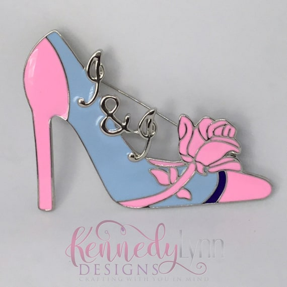 Jack and Jill Shoe Lapel Pin