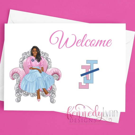 Custom 4x6 (10-Pack) Blank Note Cards With Envelopes/ Jack and Jill of America, Inc./ Welcome/ Greeting Cards/ African American/