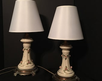 Vintage Rose Table Lamps